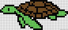 sea turtle pattern - using for perler beads Perler Bead Templates, Pearler Bead Patterns, Bead Loom Patterns, Perler Patterns, Beading Patterns, Cross Stitch Patterns, Perler Bead Art, Perler Beads, Hama Beads Design