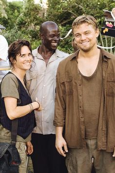 ***Blood Diamond***Jennifer Connelly, Djimon Hounsou, Leonardo DiCaprio; a movie that is difficult to watch, but worth it; i think each of these 3 deserved oscars for their performances