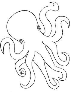 Octopus, : Octopus Outline Coloring Page