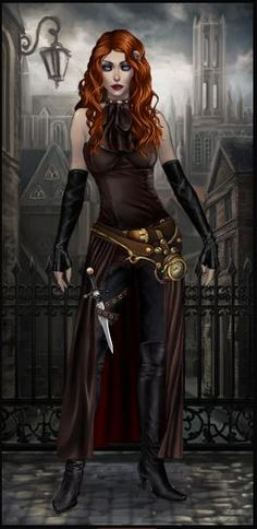 Steampunk vampire by ~ggfangirl