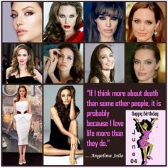 "Its the special day for a beauty who is considered to be the most #beautifulwoman in the entire world labels. #Happybirthday to the rough n tough n gorgeous Maleficent #AngelinaJolie. ""If I think more about death than some other people, it is probably because I love life more than they do."" Quote by Angelina Jolie #AFriendisaGift #June4 #HBD #Hotwomen #mostbeautifulwomanintheworld #HotCelebs #CelebQuotes #Celebrities #Maleficent #TombRaider"