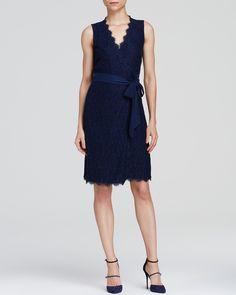 DIANE von FURSTENBERG Wrap Dress - Julianna Lace   Bloomingdale's
