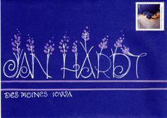 Fancy Envelopes, Mail Art Envelopes, Decorated Envelopes, Addressing Envelopes, Envelope Lettering, Envelope Art, Envelope Design, Hand Lettering, Pen And Paper