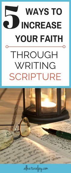 Jesus Christ is Lord:Learn five ways to increase your faith through writing Scripture. Add this to your Quiet Time routine and it will help you grow your faith and feel closer to God Faith Bible, Faith In God, Bible Verses, Scriptures, Scripture Memorization, Bible Study Plans, Bible Study Guide, Christian Faith, Christian Living