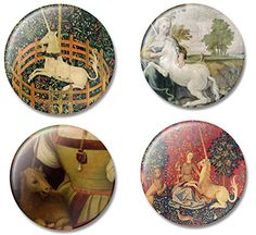 Fridge Art Magnet Unicorns throughout Art History Set of 4 Refrigerator Magnets with Beautiful Unicorn Illustrations Gift Set for Home or Office Made in USA *** Visit the image link more details.