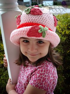 Strawberry Patch Hat. $3.50, via Etsy.