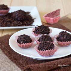 Dark Chocolate Truffles with Homemade Sprinkles (gluten-free, dairy-free)