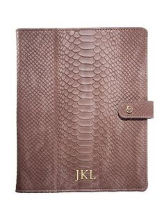 Graphic Image - Personalized Python-Embossed Leather iPad Case - Saks.com