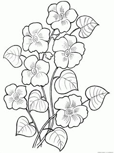 beautiful flower coloring pages from Flowers Coloring Pages. Flowers become great demanded object for most people in the world. Children, teenagers, or adult really like them. The flower's presence are alway. Floral Embroidery Patterns, Vintage Embroidery, Flower Patterns, Embroidery Stitches, Embroidery Designs, Pattern Coloring Pages, Flower Coloring Pages, Colouring Pages, Coloring Books
