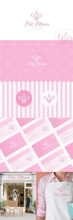Name Logo, Logo Design, Graphic Design, Logo Inspiration, Brand Identity, Apron, Cupcake, Bakery, Behance