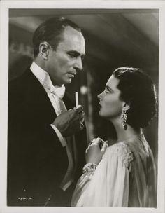 Conrad Veidt and Vivian Leigh in Dark Journey 1937