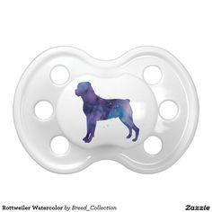 Rottweiler Watercolor BooginHead Pacifier