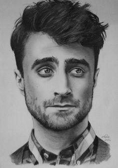Daniel Radcliffe by CarlaTeresa on DeviantArt - Daniel Radcliffe by CarlaTeresa - Harry Potter Sketch, Harry Potter Canvas, First Harry Potter, Harry Potter Artwork, Harry Potter Drawings, Pencil Portrait Drawing, Portrait Sketches, Portrait Art, Cool Art Drawings