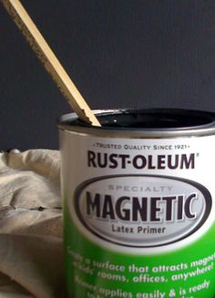 Paint your kitchen backsplash with magnetic primer to provide convenient storage for metal utensils, spice jars, and recipes.