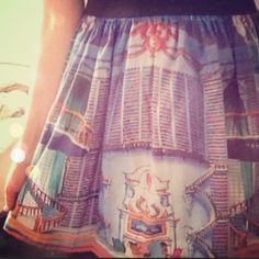 Beauty and the Beast // Belle's Library skirt from Etsy. The best skirt I own <3