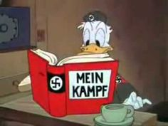 Donald Duck in 1943.  I for some reason found this video tape in the Value Villiage bin and bought it.  It is definitely legit