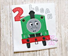 Percy Train birthday shirt thomas the train by SewWhimzyToo