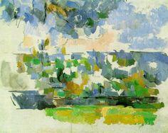 The Garden at Les Lauves, 1906, Paul Cezanne  Medium: oil on canvas