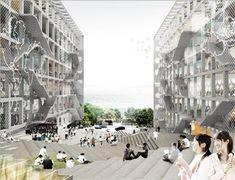chu hai college campus by OMA