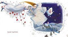 © Szegedi Katalin Page Design, Animation, Christmas Ornaments, Holiday Decor, Children, Brushes, Illustration, Artwork, Dancing