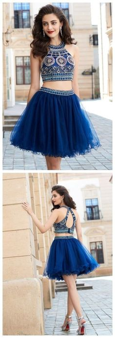 Short Homecoming Dress Short Prom/Homecoming Dress A-Line/Princess Jewel Sleeveless Beading Short/Mini Net Dresses by MeetBeauty, $133.35 USD