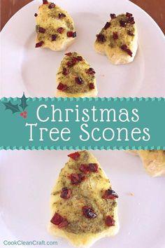 Savory Christmas Tree scones