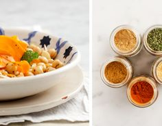 spiced carrot and chickpea salad... inspired by a dish from Morocco!