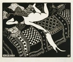 Félix Vallotton's Laziness (La Paresse), a woodcut dated 1896, from the collection of the Museum of Fine Arts, Houston.