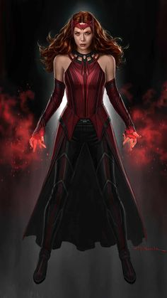 Scarlet Witch iPhone Wallpaper - iPhone Wallpapers