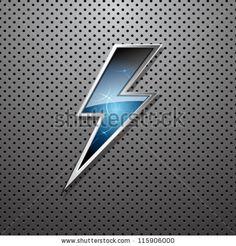 Lightning bolt - stock vector