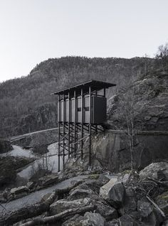 These images of the Peter Zumthor-designed Zinc Mine Museum were taken by Barcelona-based photographer Aldo Amoretti during a winter trip to southern Norway Innovative Architecture, Contemporary Architecture, Architecture Design, Mobile Architecture, Cultural Architecture, Ancient Architecture, Sustainable Architecture, Landscape Architecture, Serpentine Pavilion