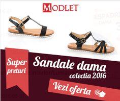 Sandale dama – ModLet.ro – Incaltaminte Femei Online Cauti Sandale dama? Preturi incepand de la 32.90 Lei, Zeci de Promotii Saptamanal si Modele noi adaugate periodic in categoria Sanda…
