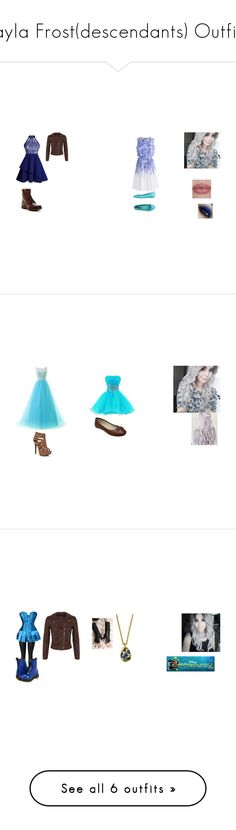 """Jayla Frost(descendants) Outfits"" by iluvpolyvore-498 ❤ liked on Polyvore featuring Frye, Miss Selfridge, Chicwish, MTNG, Descendants, Chinese Laundry, 1928, Dr. Martens, Cédric Charlier and H&M"