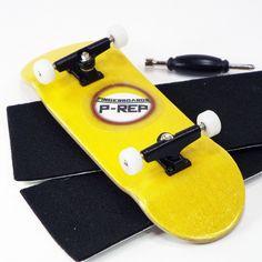 P-Rep yellow wooden fingerboard