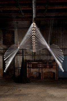 Modern Chandelier, Chandelier Lighting, Artwork Lighting, Farmhouse Lamps, Lights Artist, Kinetic Art, Light Installation, Art Installations, Light Painting