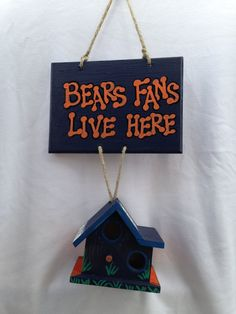 Chicago Bears Fan House by UNameitCA on Etsy