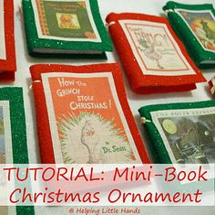 Helping Little Hands: Easy Mini-Book Christmas Ornament Tutorial