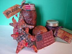 how to make primitive crafts | Prim Craft Recipes Grunge Glass Wax Ornies Quick Tags | eBay