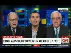 CNN Peter Beinart vs Alan Dershowitz, Dennis Prager over Israel Settlement UN Vote & Trump - YouTube