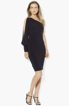 Lauren Ralph Lauren One Shoulder Jersey Dress available at #Nordstrom