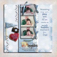 """Studio 4 Designworks' new mini bundle, """"Family Fun,"""" is on sale NOW: http://www.godigitalscrapbooking.com/shop/index.php?main_page=product_dnld_info&cPath=29_164&products_id=25918. Check out the word art, elements (such a variety), etc. In fact, the next time I use this mini bundle I will create a page about my daughter-in-law drinking coffee! That's versatile!"""