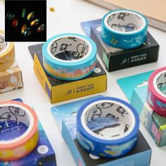 15MM*6M Cartoon Luminous Washi Tape  Scotch Tape Papelaria Scrapbooking Stickers Masking  School&Office Supplies