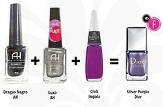 silver purple dior