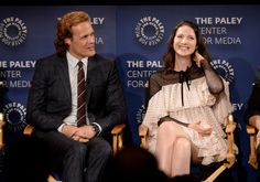 ...and Sam Heughan (Jamie Fraser) and Caitriona Balfe (Claire Fraser) stopped by to chat as well.