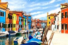 Sold at 123rf: View of the small village of Burano with its multicolored buildings -  Venetian lagoon, Italy. Stock Photo - 20154410