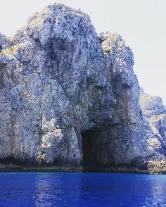 One of Marettimo's Caves/ Una Delle Grotte di Marettimo