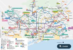 Maps of Barcelona, Barcelona Metro Map, Barcelona Bus Map Barcelona Tourist Map, Barcelona 2014, Barcelona City Centre, Barcelona Spain Map, Metro Subway, Subway Map, Bus Map, Transport Map, Barcelona Spain
