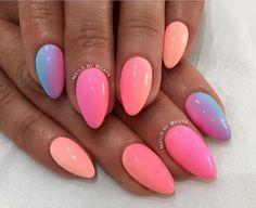 Miami Collection 2017 by Natalia Siwiec  My Summer Melons Sugarmama Los Flamingo Florida Dreams  by Instagram: @nailsbybeata #nails #nail #ombre #ombrenails #indigo #indigonails #nailsart #miami #nataliasiwiec #pastelnails #nataliasiwiec #springnails #coachella