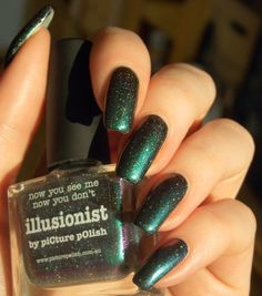 Green, Glaze & Glasses: Blue Friday - Picture Polish Illusionist