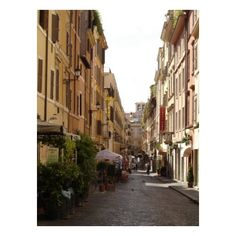 Rome Streets ❤ liked on Polyvore